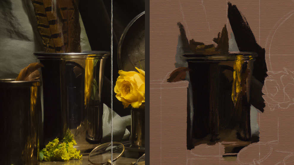 Yellow Flowers Timelapse Draw Mix Paint