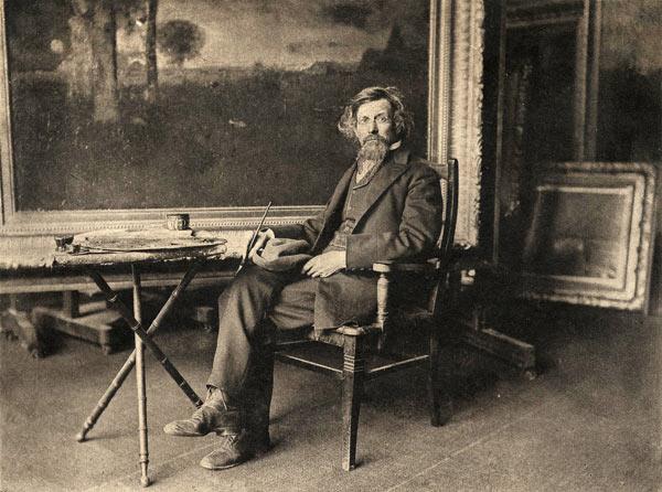 George Inness in his studio [1890]