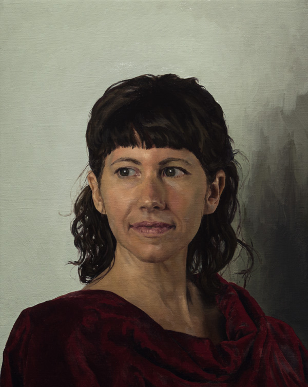 Susan Sims's painting from the Draw Mix Paint Portrait Workshop